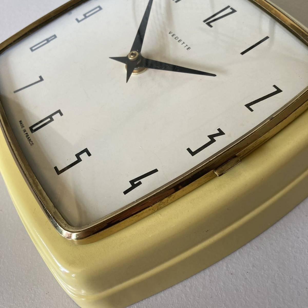 フランス ヴィンテージ ウォールクロック ミッドセンチュリー インテリア ディスプレイ 店舗什器 掛け時計 デザイン_画像8
