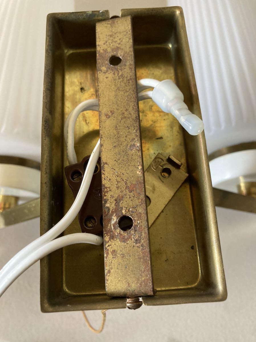 ドイツ50's ヴィンテージ ウォールランプ ブラケットランプ ガラスシェード アンティーク インテリア ディスプレイ 照明デザイン 店舗什器_画像8