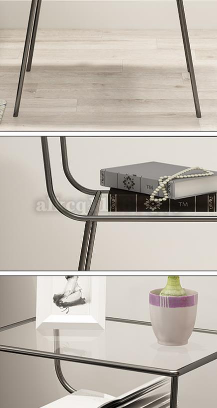 ★サイドテーブル ガラス★ ナイトスタンド ベッドテーブル 北欧 ソファサイド シェルフ机 インスタ映え デザイナーズ フランフランCZ-326_画像8
