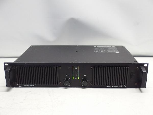 L-ACOUSTICS LA-17a LA17a 2CHパワーアンプ スピコン出力 *316101_画像2
