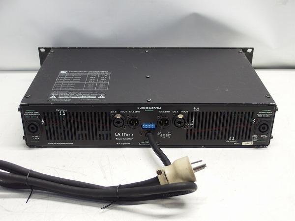 L-ACOUSTICS LA-17a LA17a 2CHパワーアンプ スピコン出力 *316101_画像5