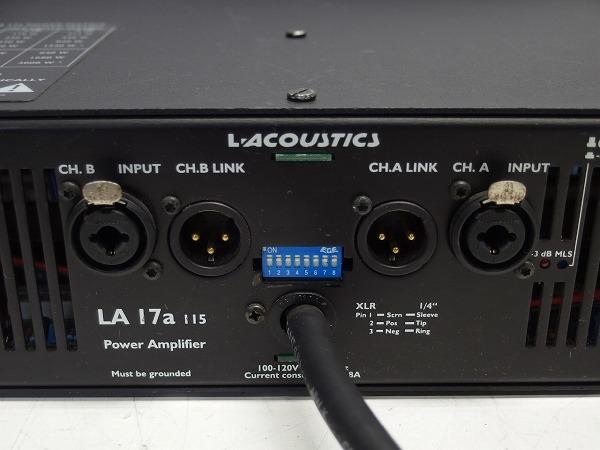 L-ACOUSTICS LA-17a LA17a 2CHパワーアンプ スピコン出力 *316101_画像6