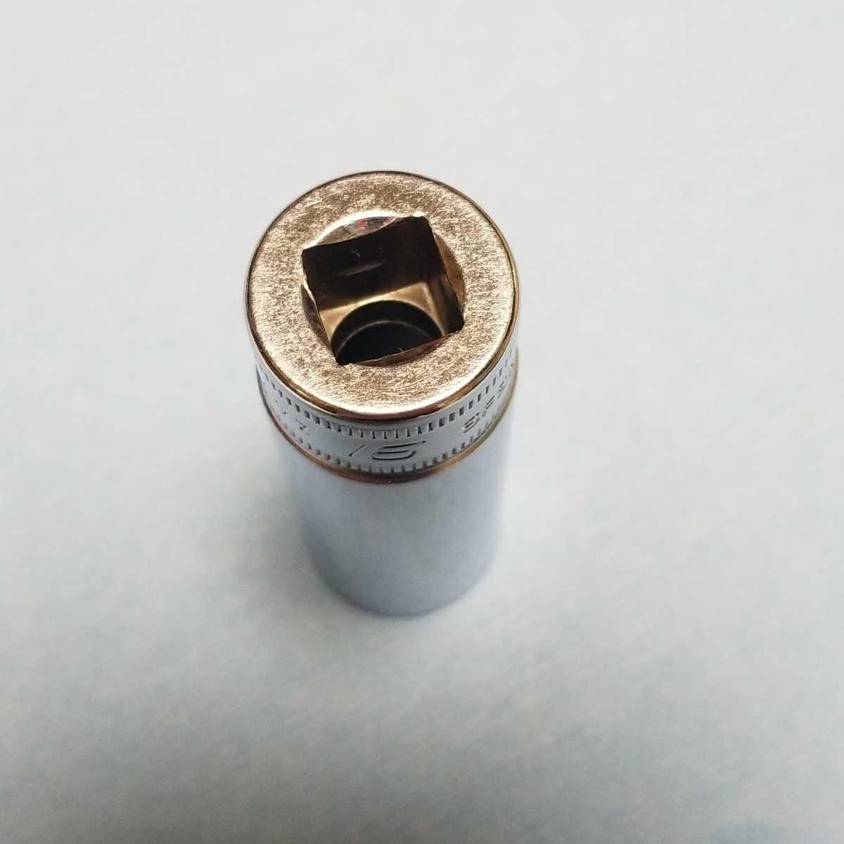 16mm 3/8 ディープ スナップオン SFSM16 (6角) 中古品 美品 保管品 SNAPON SNAP-ON ディープソケット ソケット 送料無料 Snap-on _画像7