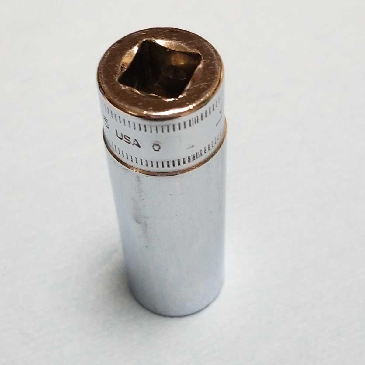 15mm 3/8 ディープ スナップオン SFM15 (12角) 中古品 保管品 SNAPON SNAP-ON ディープソケット ソケット 送料無料 _画像2
