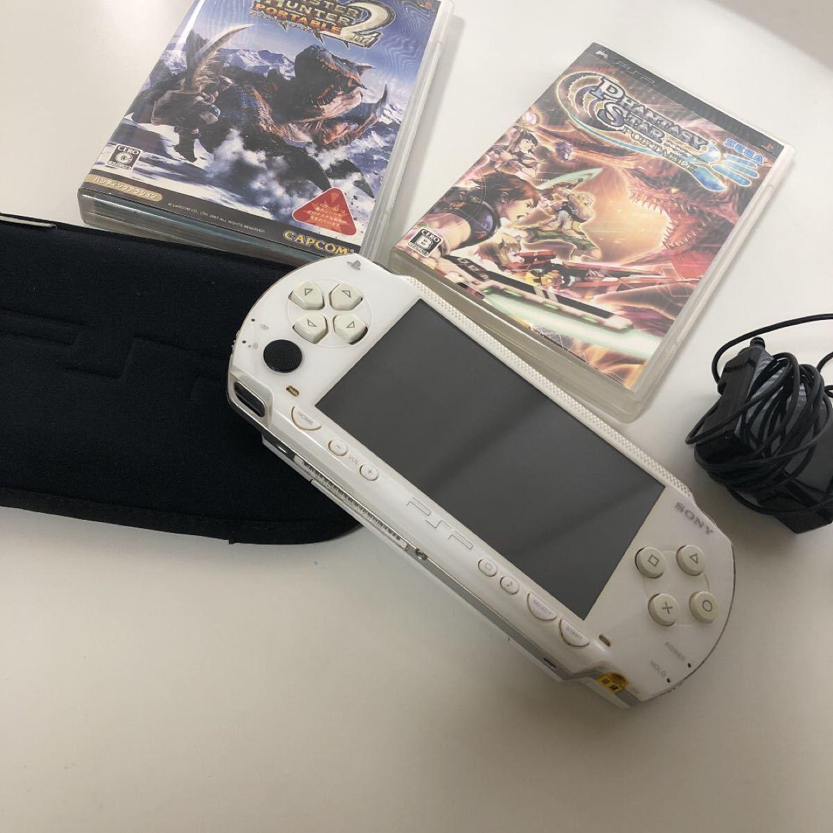 PSP本体 ソニー SONY  セット売り モンハン2 ファンタシースターポータブル