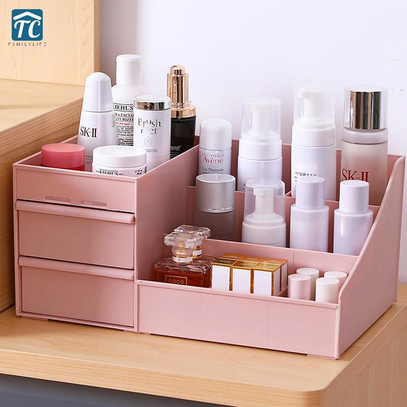◆最安にします◆ 化粧品 収納 ボックス 棚 引き出し スキンケア コスメ ネイル ピアス メイク おしゃれ 可愛い ピンク 美容 AT12260_画像1