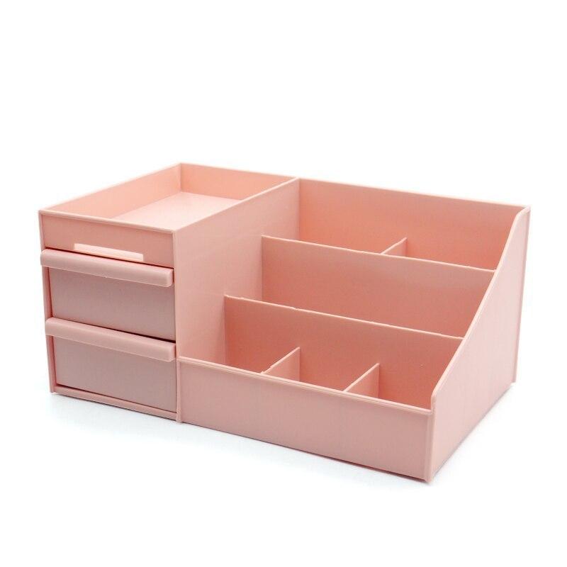 ◆最安にします◆ 化粧品 収納 ボックス 棚 引き出し スキンケア コスメ ネイル ピアス メイク おしゃれ 可愛い ピンク 美容 AT12260_画像2