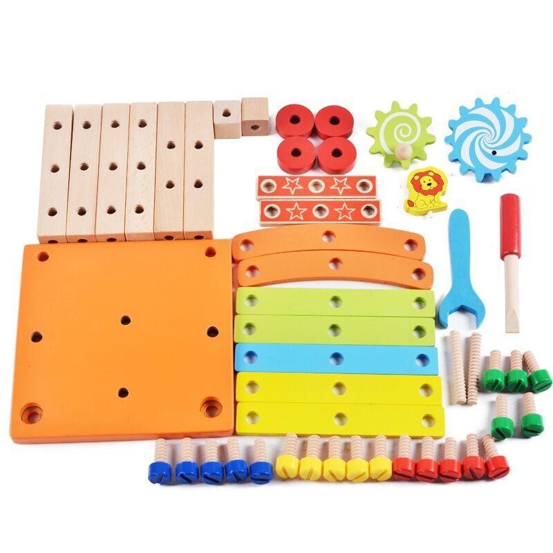 ◆最安にします◆子供用木製おもちゃ 知育玩具 積み木ブロック 椅子工作 組み立て 学習教育 変形 トレーニング 幼児 幼稚園学習 AT10571_画像3