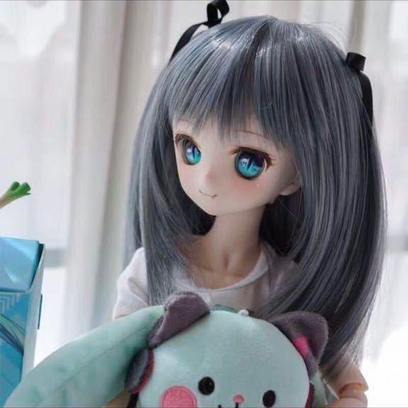 ◆新品◆ オビツ ob11 BJD 1/3 パラボックス 服 人形 ウィッグ カツラ ウイッグ 髪の毛 のみ ドール ヘッド ブライス SD 耐熱_画像2