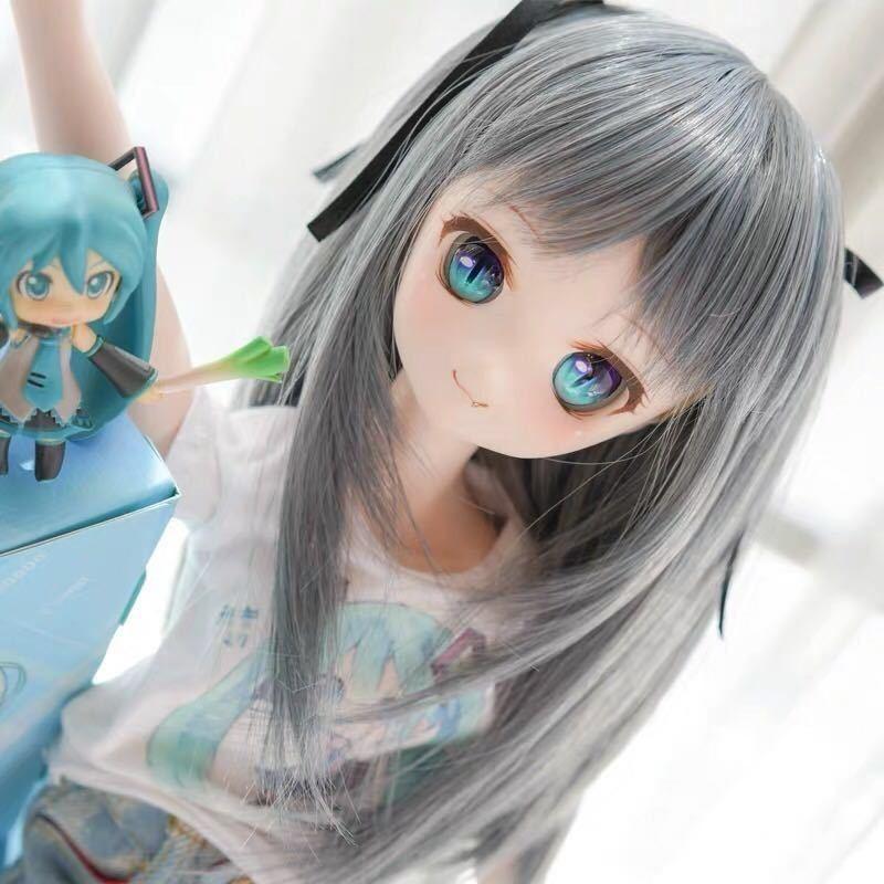 ◆新品◆ オビツ ob11 BJD 1/3 パラボックス 服 人形 ウィッグ カツラ ウイッグ 髪の毛 のみ ドール ヘッド ブライス SD 耐熱_画像3