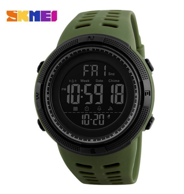 ★SKMEI ファッション屋外スポーツ腕時計メンズ多機能腕時計 アラーム時計 クロノ 5Bar 防水デジタル腕時計★_画像5