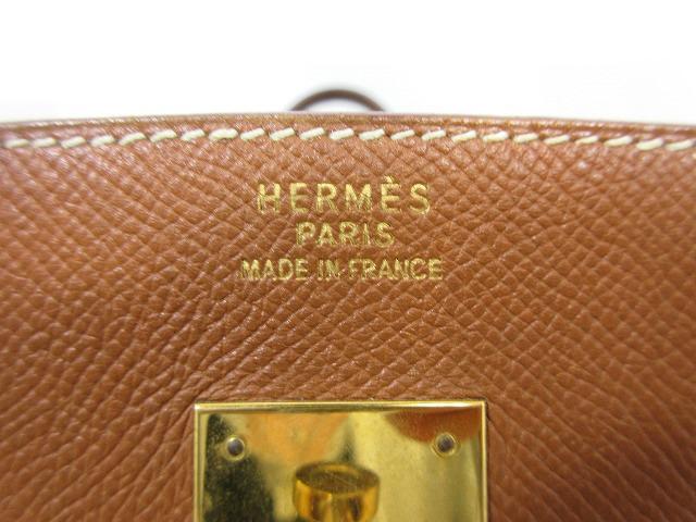 HERMES エルメス●バーキン40 クシュベル ゴールド金具 〇X ブラウン レザー ハンドバッグ (93317_画像7