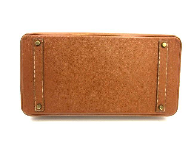 HERMES エルメス●バーキン40 クシュベル ゴールド金具 〇X ブラウン レザー ハンドバッグ (93317_画像4