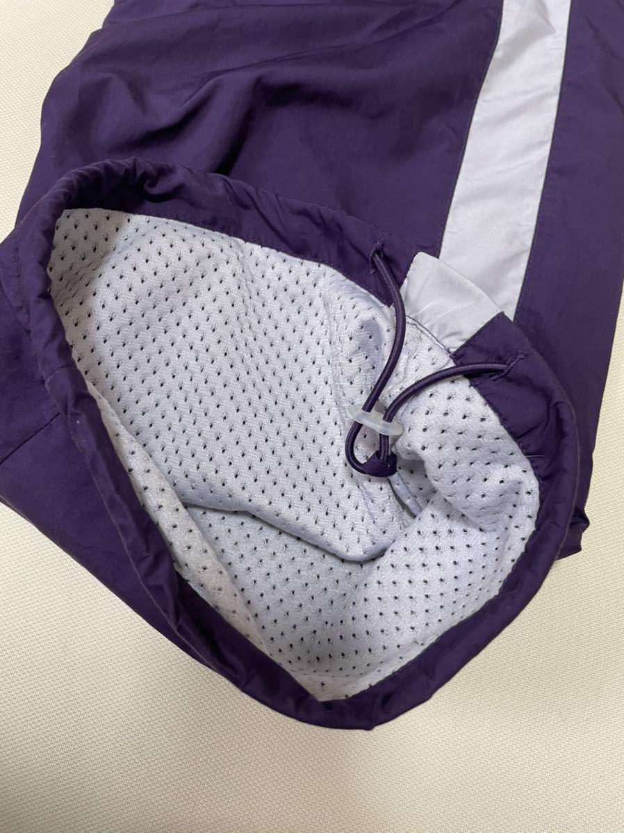 NIKE ナイキ  裏地付き ナイロンパンツ パープル 紫色 ■ Size L Lサイズ 送料無料 ウエスト太ゴム
