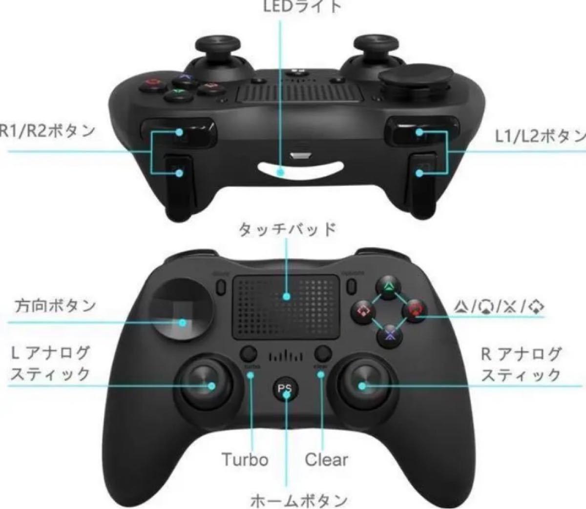 PS4 ワイヤレスコントローラー ブルー 一点