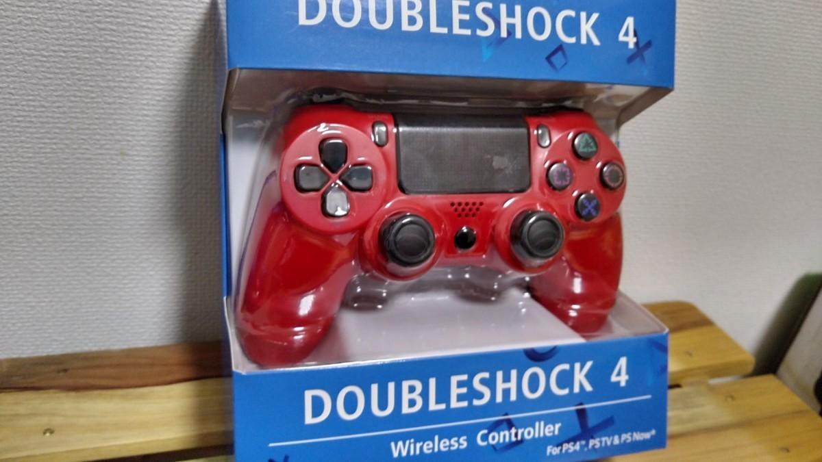 PS4コントローラー プレステ4コントローラー ジャイロセンサー 互換 レッド