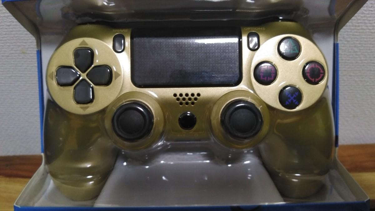 PS4コントローラー プレステ4コントローラー ジャイロセンサー 互換 ゴールド