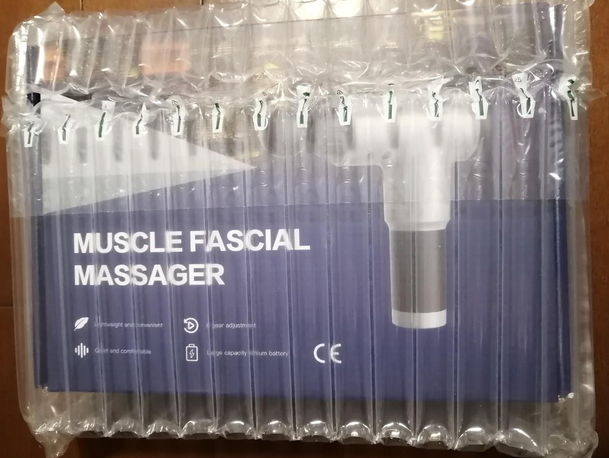 マッサージガン 筋膜リリース 筋肉リラックスマシン 全身ケア ブラック