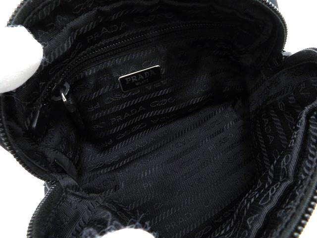 【大黒屋74】PRADA プラダ アクセサリーポーチ ナイロン ブラック_画像6