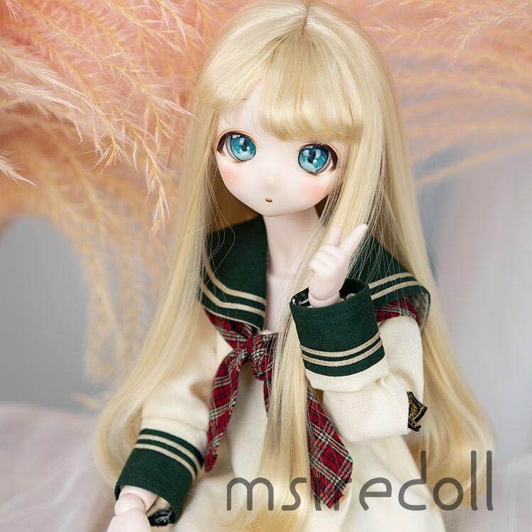 BJD 1/3 1/4 1/6 球体関節人形 服 人形 ウィッグ ウイッグ ドール ヘッド DD MDD SD MSD YOSD ヘッドパーツ カスタムヘッド用 ロング_画像3