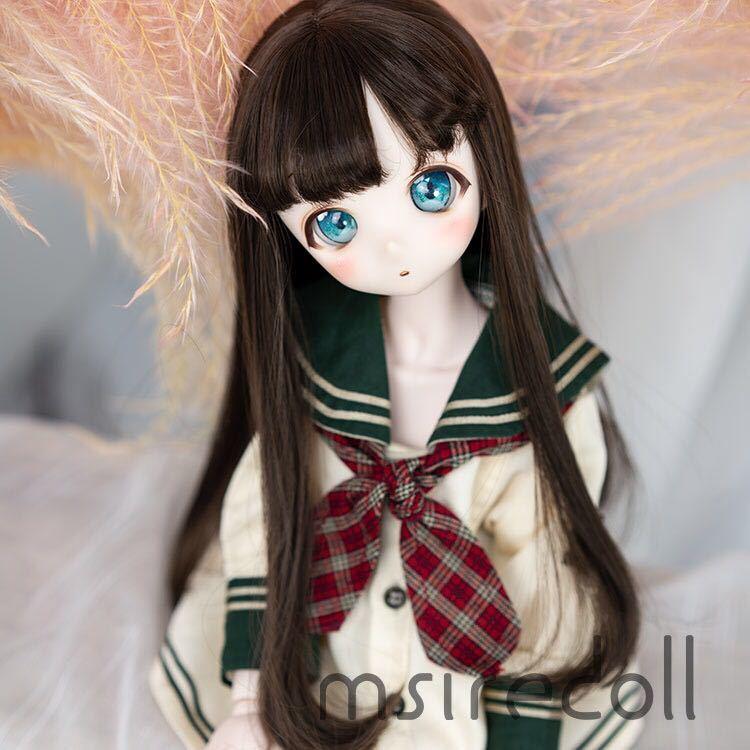 BJD 1/3 1/4 1/6 球体関節人形 服 人形 ウィッグ ウイッグ ドール ヘッド DD MDD SD MSD YOSD ヘッドパーツ カスタムヘッド用 ロング_画像4