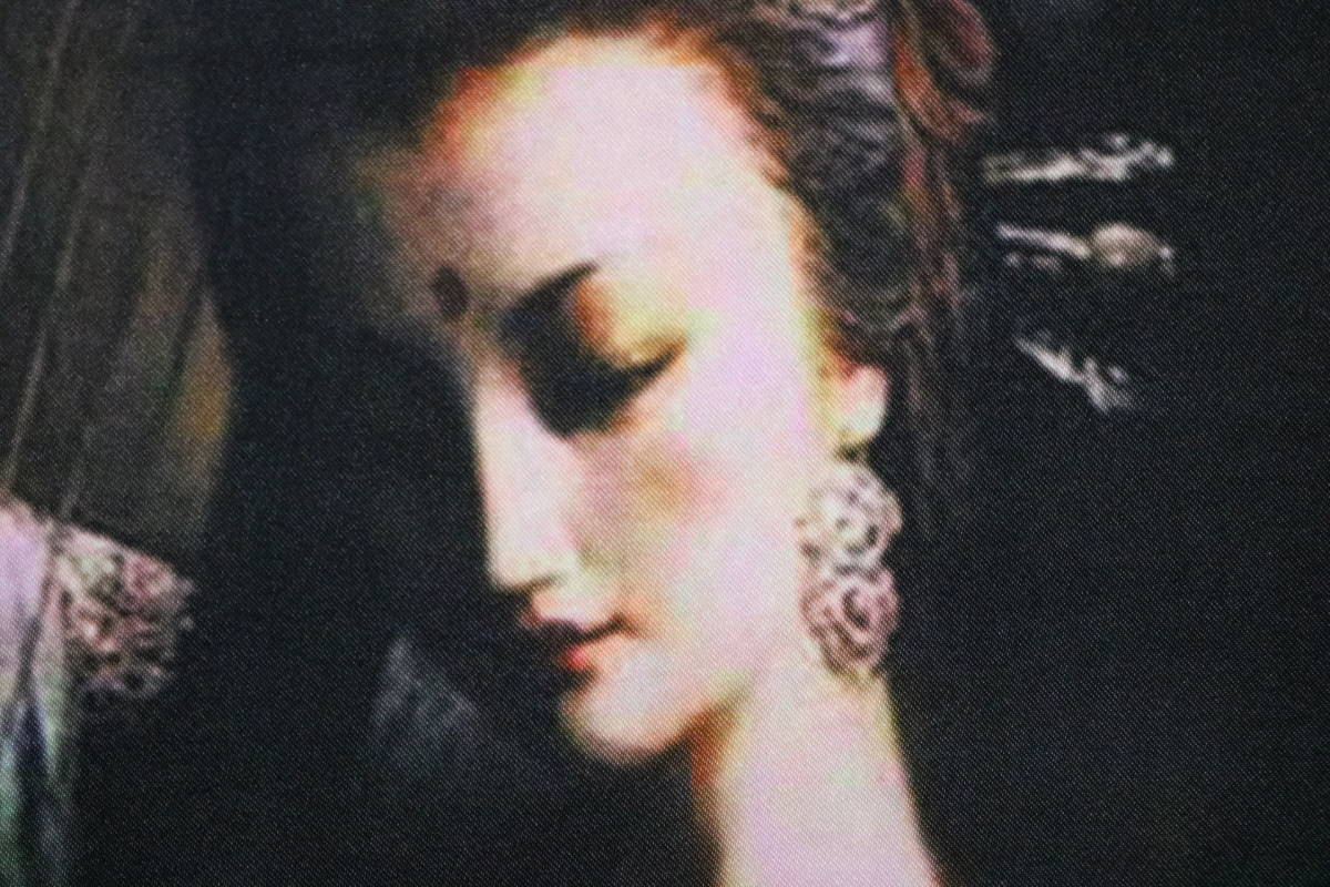 掛軸 曾浩敦煌仏画 絹布印刷複製 120×60     CN03