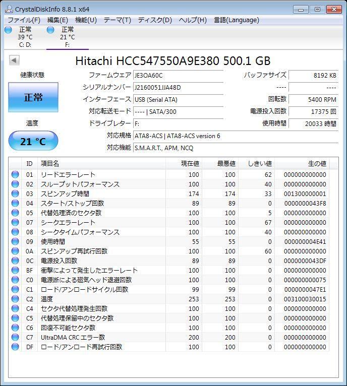 日立 ポータブル HDD 500GB ハードディスク 外付け 320GB 上 1TB 下 2.5