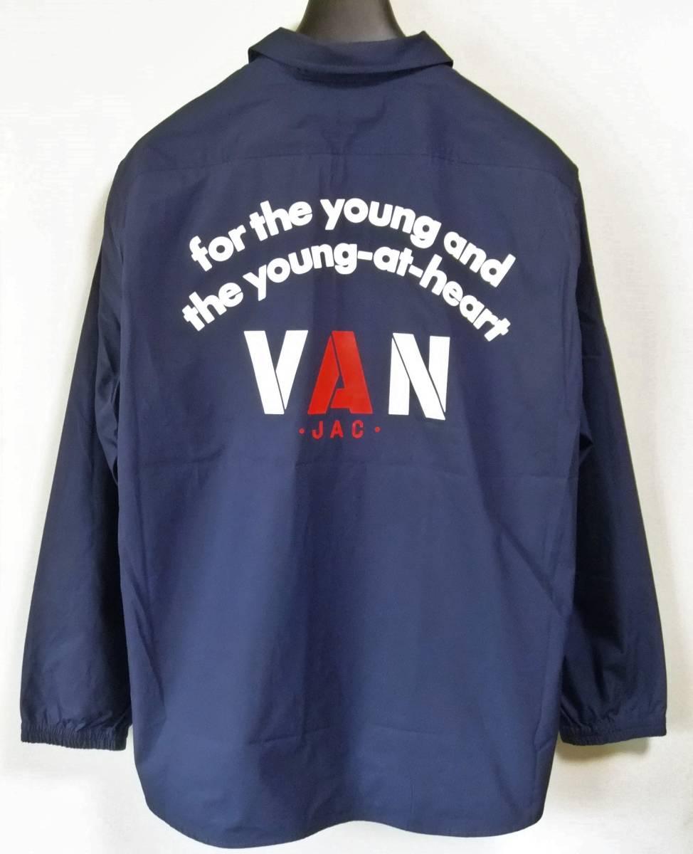 VAN JAC(ヴァンヂャケット)アーチロゴ入りコーチジャケットシャツL