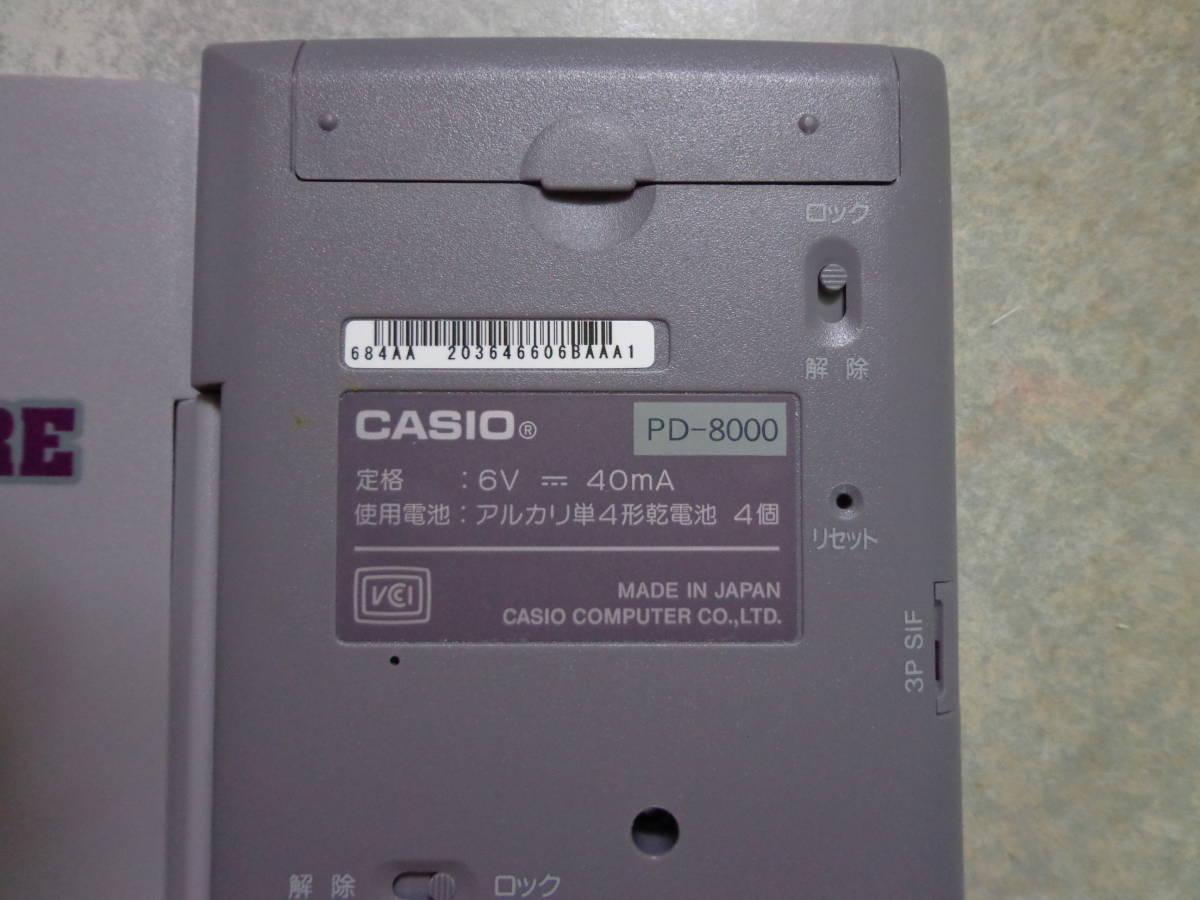 カシオ ポケットコンピューター ポケコン CASIO PD-8000 プログラム電卓 _画像3