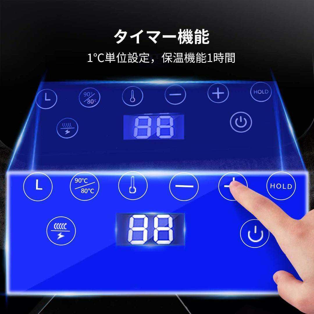ピンク(紫) お茶 カフェ電気ケトル 電気ポット コーヒー ドリップ 細口 3p→2p変換プラグお負け