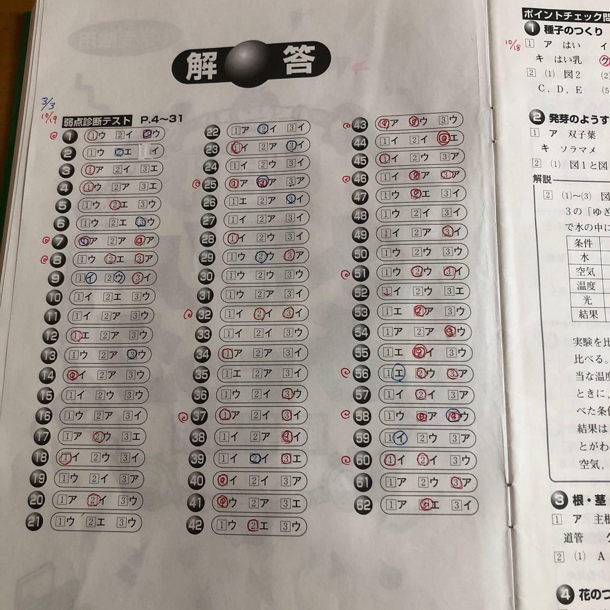 理科メモリーチェック 社会メモリーチェック 中学受験用
