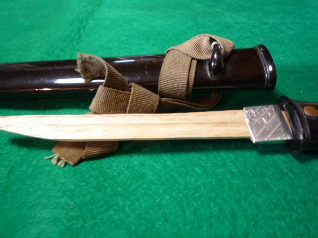 短刀の拵え 鞘は黒の呂鞘です。脇差_画像8