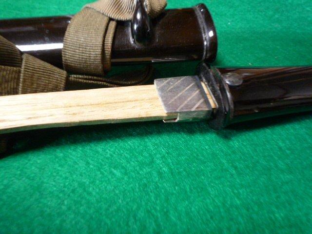 短刀の拵え 鞘は黒の呂鞘です。脇差_画像9