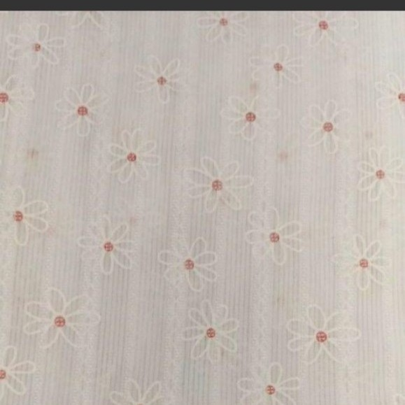 生地 コットンレース 立体プリントホワイト 約145×50cm