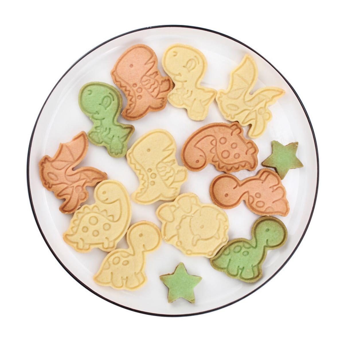 新品★クッキー型 男の子大好きな恐竜6個セット バレンタイン お菓子作り 型抜き