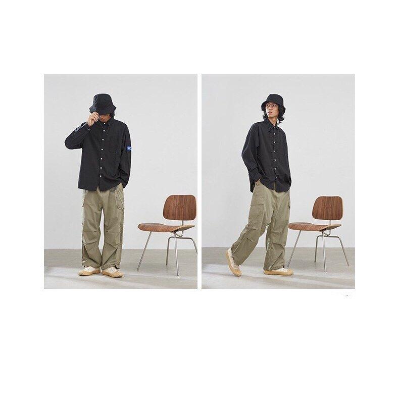 ロングパンツ メンズ カーゴ カジュアル テーパードパンツ カーゴパンツ ボトムス ジョガーパンツ テープ スウェットパン メンズ シンプル
