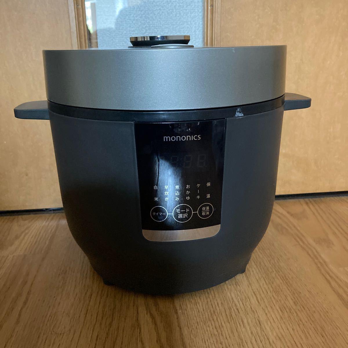炊飯器 2020年製 mononics 12.RICE COOKER   MN-RC12-BK