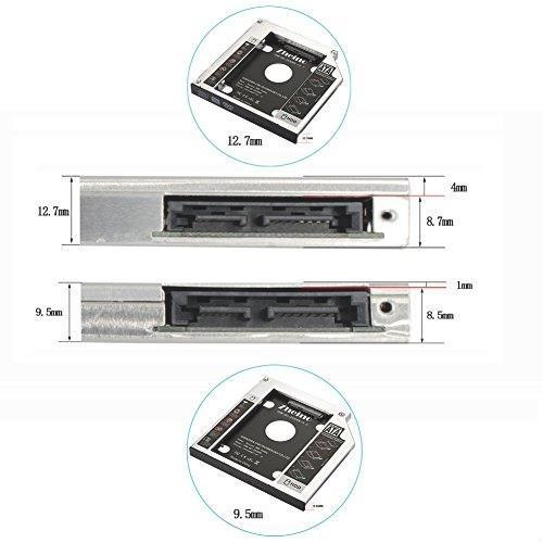 Zheino 2nd 9.5mmノートPCドライブマウンタ セカンド 光学ドライブベイ用 SATA/HDDマウンタよHEZH_画像5