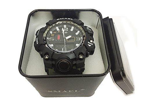 ☆お買い得☆ブルー PHCOOVERS ミリタリー 迷彩風 アナデジ 腕時計 メンズ 男性 アラーム クロノグラフ 多機能 運動_画像3