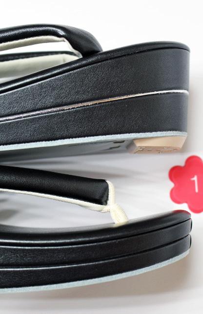 新品 送料無料★no1黒 草履バッグセット クラッチバッグ Fサイズ_画像10