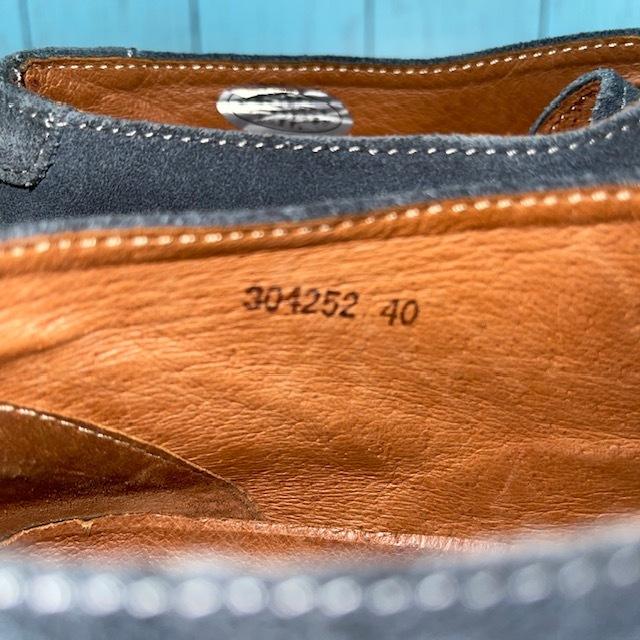 【即決】whoop'-de-doo' フープ・ディ・ドゥ EUR40 25cm デザートブーツ チャッカブーツ スエード 青 ブルー_画像7