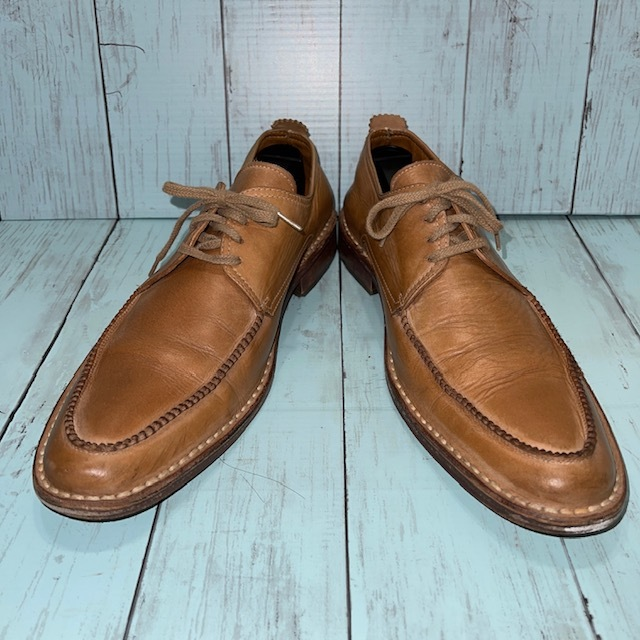 【即決/送料無料】BOEMOS ボエモス EUR41 25.5cm Uチップ 茶 ブラウン 革靴_画像1