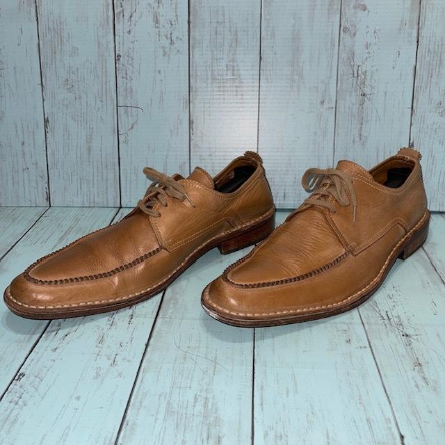 【即決/送料無料】BOEMOS ボエモス EUR41 25.5cm Uチップ 茶 ブラウン 革靴_画像2
