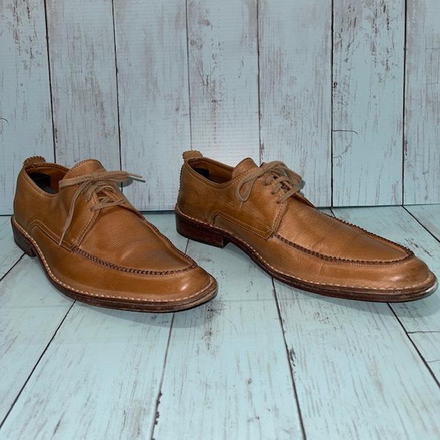 【即決/送料無料】BOEMOS ボエモス EUR41 25.5cm Uチップ 茶 ブラウン 革靴_画像3