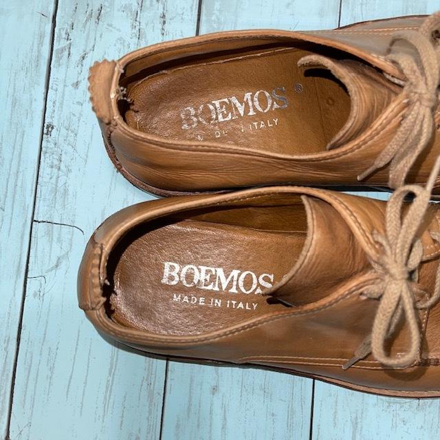 【即決/送料無料】BOEMOS ボエモス EUR41 25.5cm Uチップ 茶 ブラウン 革靴_画像6