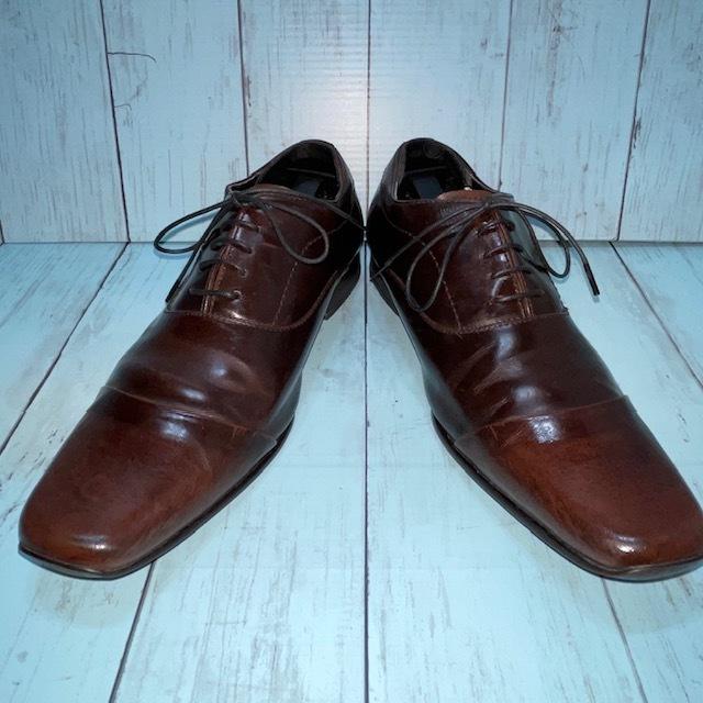 【即決/送料無料】stefanorossi ステファノロッシ 24.5cm ストレートチップ 茶 ブラウン 革靴 ビジネスシューズ_画像1