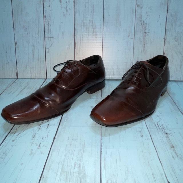 【即決/送料無料】stefanorossi ステファノロッシ 24.5cm ストレートチップ 茶 ブラウン 革靴 ビジネスシューズ_画像2