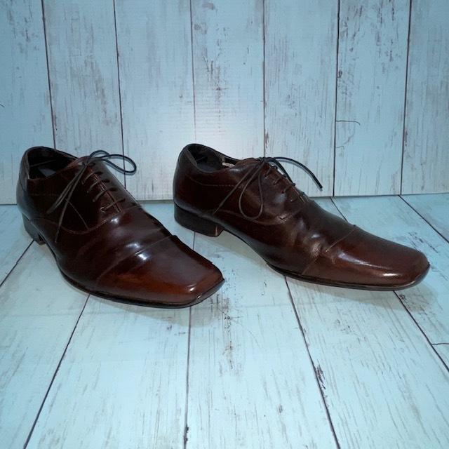【即決/送料無料】stefanorossi ステファノロッシ 24.5cm ストレートチップ 茶 ブラウン 革靴 ビジネスシューズ_画像3