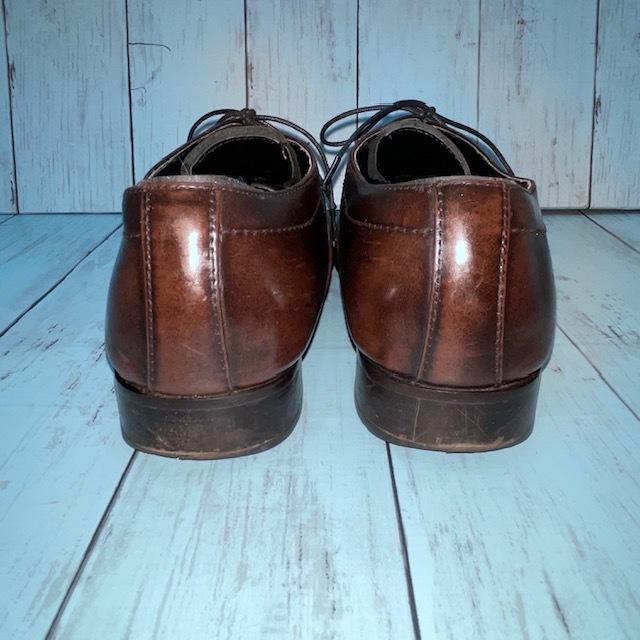 【即決/送料無料】stefanorossi ステファノロッシ 24.5cm ストレートチップ 茶 ブラウン 革靴 ビジネスシューズ_画像4