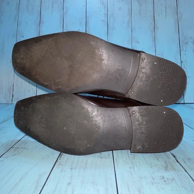 【即決/送料無料】stefanorossi ステファノロッシ 24.5cm ストレートチップ 茶 ブラウン 革靴 ビジネスシューズ_画像5